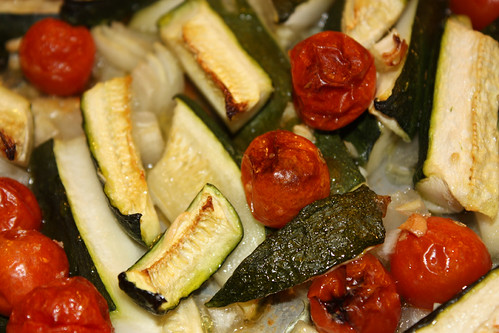 Roasted Zukes & Tomatoes