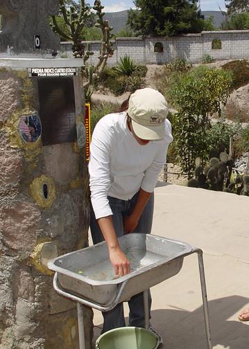 DSC00711 Museo de Sitio Inti-Nan coriolis experiment