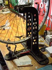 vintage AD truing stand (Tim Keith 59) Tags: bike bicycle wheel vintage cycling tool truingstand truing