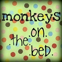 monkeys on the bed!