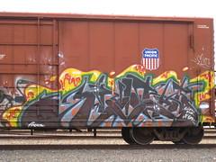 Knistt (VDub (o\I/o)) Tags: art graffiti trains boxcar boxcars freights knistt gtl benching knistto