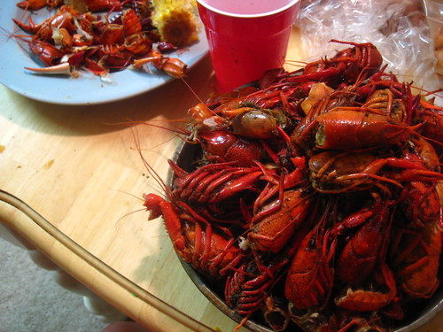 boiled crawfish. destroyed.