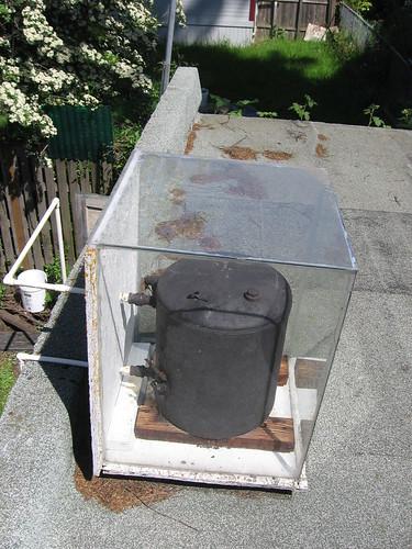 Solar water heater, roof shot