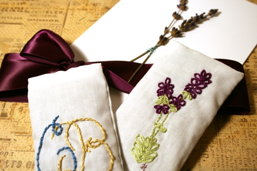 lavender sachets from J