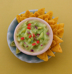 Mini Mexican Guacamole (Shay Aaron) Tags: chile food mexico avocado miniature chili handmade aaron fake mini gourmet mexican polymerclay fimo faux shay guacamole 12th 112 nachos dollhouse petit cshayaaron
