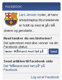 Sporten.dk Facebook Connect
