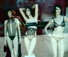 she is me (redjoe) Tags: street nyc newyorkcity woman reflection sexy mannequin window female store raw manhattan candid bra pale lingere redjoe joehorvath