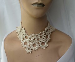 Let it fly... (DAINTYCROCHETBYALY) Tags: wedding summer butterfly spring circles crochet choker ecru crochetednecklace bonecolor irishcrochetlace