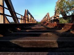 Abandoned Train Bridge Near Axios River