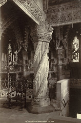 Rosslyn Chapel, The Apprentice Pillar (Cornell University Library) Tags: leaves wroughtiron dragons stainedglass pillars inscriptions corbels cornelluniversitylibrary reliefsculptures religiousinteriors plantderivedmotifs imaginarymythologicalcreatures pendantsarchitecturalornaments collegiatechurches rosslynchapelroslinscotland saintmatthewscollegiatechurchroslinscotland culidentifier:value=155309001231 culidentifier:lunafield=accessionnumber