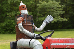 Tin Man on a Tractor