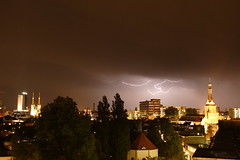 Tilburg in a thunderstorm (BJSmit) Tags: longexposure 20d church netherlands canon canon20