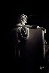 Wisdom (BHagen) Tags: blackandwhite bw usa monument statue mall washingtondc blackwhite dc nikon memorial power unitedstates president civilwar wise lincoln leader duotone wisdom abrahamlincoln d80