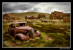 Going Nowhere Fast (James Neeley) Tags: california landscape decay ghosttown bodie oldcar mammothlakes hdr 5xp jamesneeley bratanesque mountainhighworkshops eisf2009