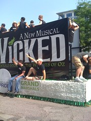 Wicked float at Pride parade