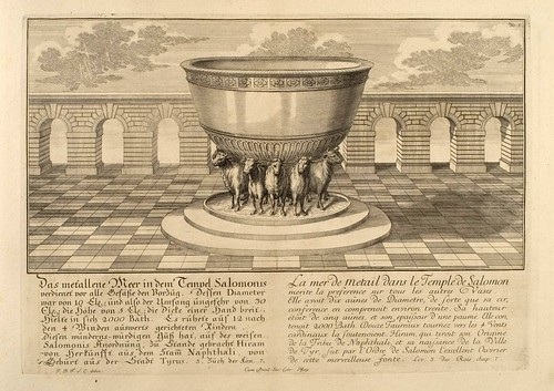019- El Mar de Metal en el Templo de Salomon-Entwurf einer historischen Architektur 1721- © Universitätsbibliothek Heidelberg