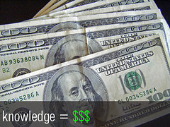Knowledge = Money