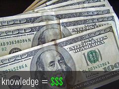 Knowledge = Money