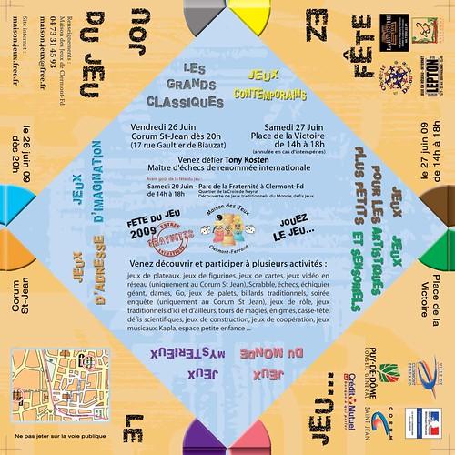 programme de la fete des jeux 2009 à Clermont-ferrand : DIY ton programme cocotte à plier