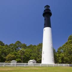Hunting Island Light (anadelmann) Tags: blue trees light sky usa lighthouse building green sc grass archi