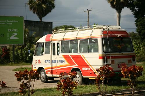 a public dala dala bus from China