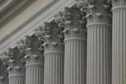 Pillars on the National Archives...