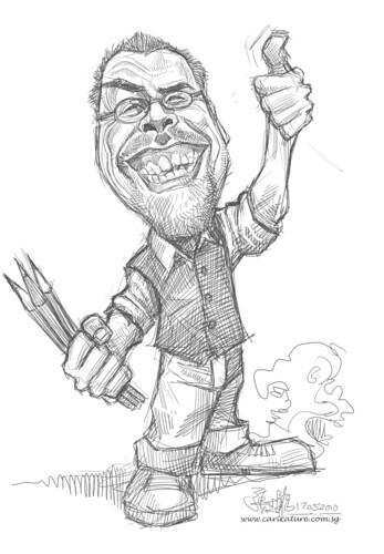 digital sketch of Robert Summer (Floyd)