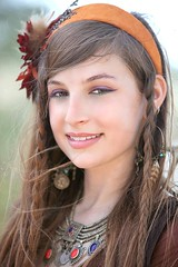 Beautiful Young Gypsy Dancer (wyojones) Tags: woman girl beautiful beauty smile festival forest costume eyes texas teeth makeup paige bellydancer dancer lips belly teen faire renfaire brunette lovely renaissancefestival browneyes gypsy renaissance renaissancefaire renfest wench rennie sherwood bastropcounty wyojones sherwoodforestfaire