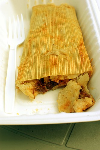 pork red salsa tamale