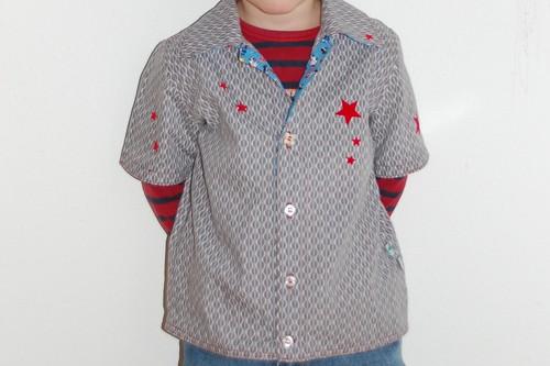 Shirt front.
