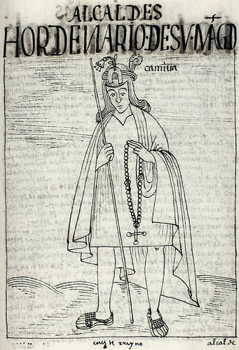 The local magistrate, or camiua, from the Book of Guaman Poma