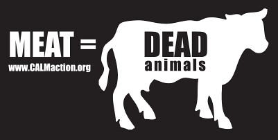 sticker - Meat = Dead Cows