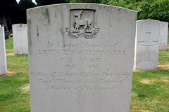 Grave of Enoch Powell (kestrel49) Tags: uk england cemetery grave europe britain headstone 11 gb gravestone politician mp warwick warwickshire 2011 enochpowell royalwarwickshireregiment royalwarwicks johnenochpowell
