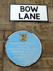 Photo of Ernest Jones blue plaque
