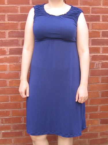 Blue Peasant Dress