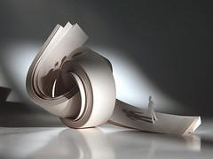 rudanovski-walking-vol.5-001 ([a] rudanovski) Tags: sculpture art paperart papercuts 3dpaper paperstrips rudanovski minipapersculpture