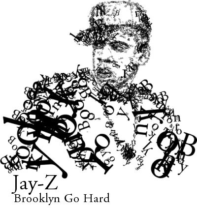 Evan Roth typographic illustration for Jay-Z 'Brooklyn Go Hard' video