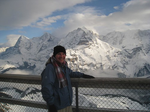 From left, the peaks of...Eiger...Monch....Jungfrau