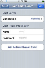 Mobile Colloquy - Join Chat Room