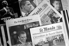 The Press Watching Obama