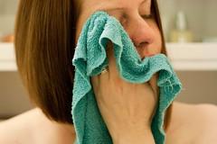(365.2.38) (splityarn) Tags: selfportrait me year2 washcloth ablutions facecloth 365days