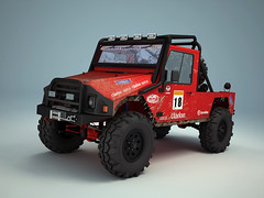 U.M.M. 4x4 Offroad - First texture test 3D (konceptsketcher) Tags: art classic portugal expedition car design 3d cg jeep mud offroad 4x4 computergenerated render stickers racing dirt transportation vehicle tt tuning modelling trial umm monstertruck rollbar jipe softtop sparetire vray 3dmax todoterreno hillclimbing artdigital sparcoseats uniaometalomecanica konceptsketcher