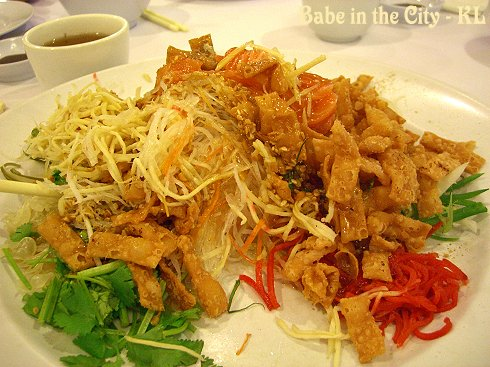 Salmon Yue Sang (half portion RM38)
