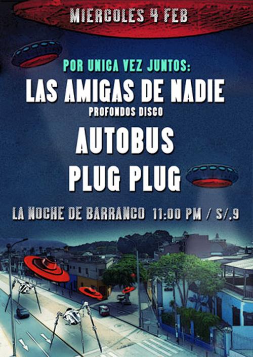 Afiche concierto Las Amigas de nadie