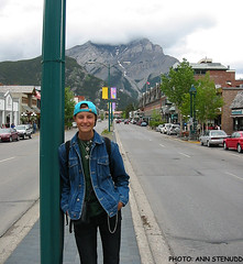 20030620_1 Me on Banff Avenue in Banff, Alberta, Canada. My fave movie is set partly in Banff! *COUGH* Lunch with Charles *COUGH* (ratexla) Tags: 2003 life street trip travel girls summer vacation people woman mountain holiday canada travelling me girl person nationalpark vegan women earth chick human alberta northamerica banff chicks traveling humans vegans kanada tellus canadianrockies homosapiens organism banffnp canadianrockymountains nordamerika thecanadianrockies ratexla ratexlascanadatrip photophotospicturepicturesimageimagesfotofotonbildbilder photophotospicturepicturesbildbilderfotofotonimageimages 20jun2003 resaresor ratexlascanadatrip2003