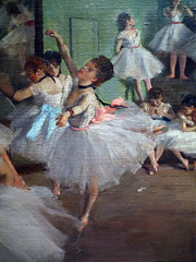 Degas Dance Lesson detail with Center Dancer