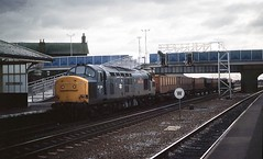 37229 church fenton 23 Feb 1988 (bob the lomond) Tags: train diesel yorkshire engine rail railway loco slide scan locomotive scannedslide churchfenton class37 37229 bobthelomond cardiffrodmill