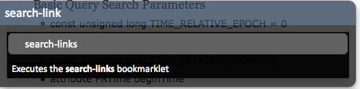 Bookmarklet command