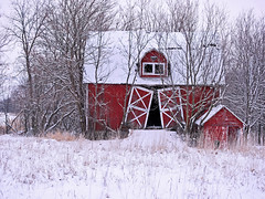 A barn that time forgot (James Jordan) Tags: winter snow abandoned barn rural decay explore abandon forgotten forgot abigfave ultimateshot