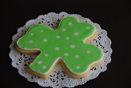 Giant Polka Dot Shamrock Cookie